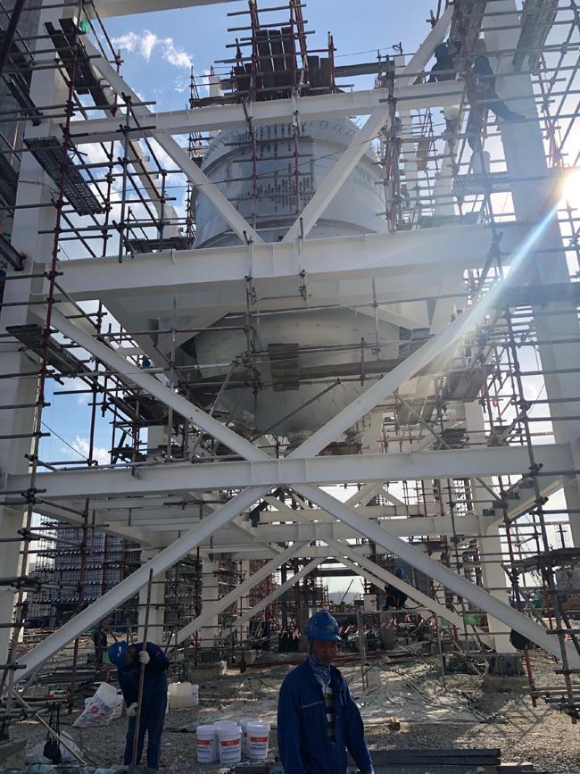 【防火涂料施工案例】恒逸(文莱)大摩拉岛石油化工项目